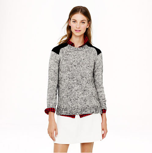 Marled Color Block Sweater