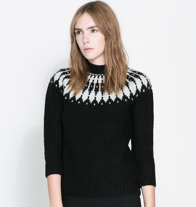 Short Jacquard Sweater