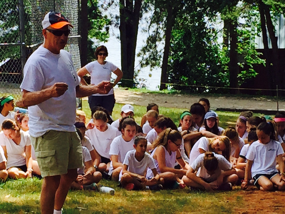 Phil speaking to Camp Fernwood and Camp O-At-Ka campers in July