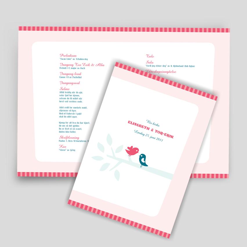 Bryllup –Kirkeprogram