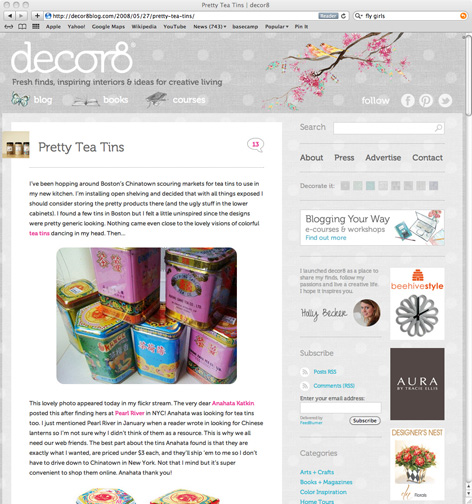 Decor8: Tea tins