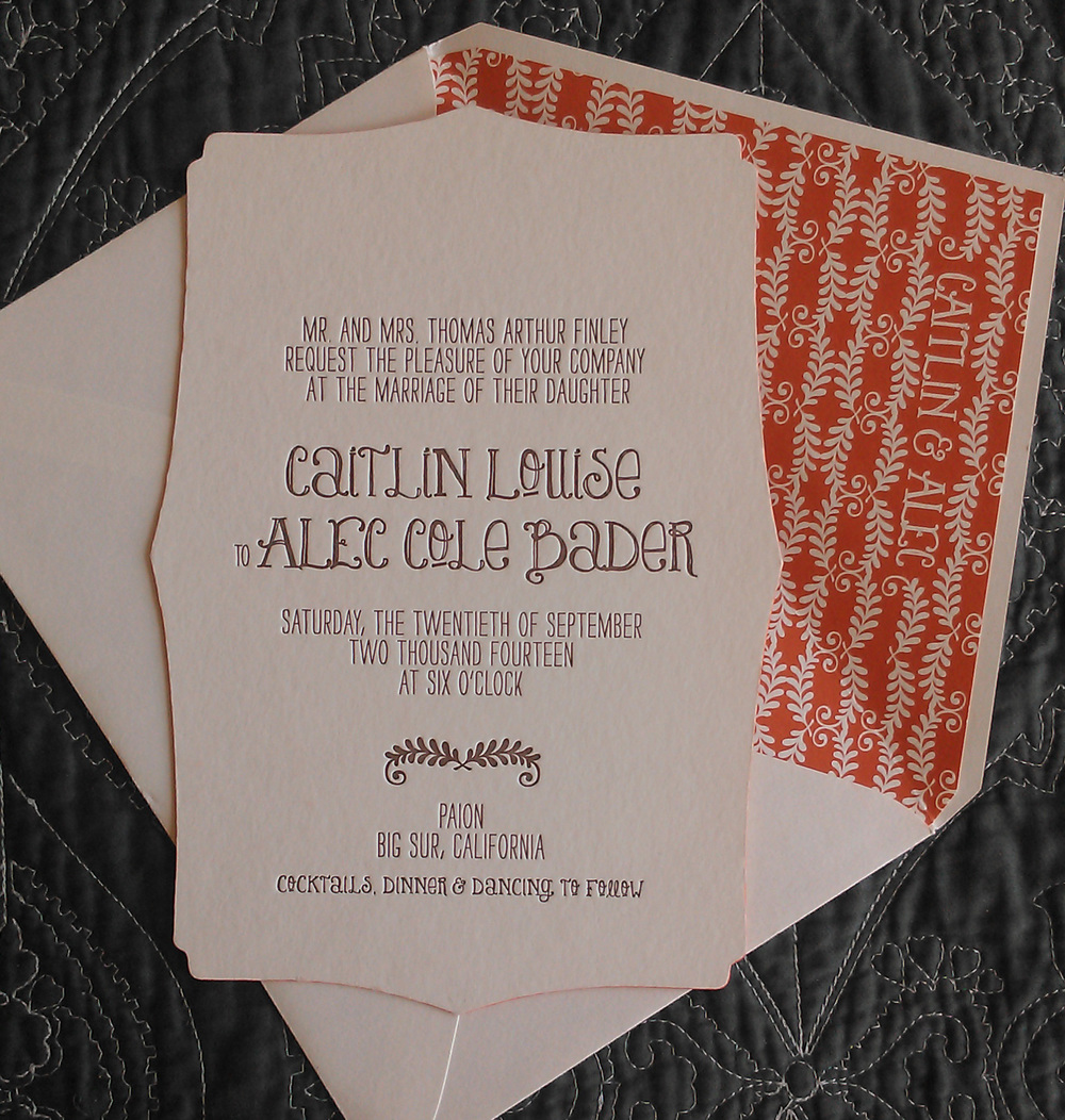 Letterpress and Printed Liner by Smock