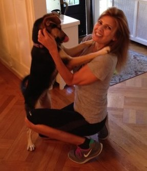 Layla gives her new Mommy a hug!