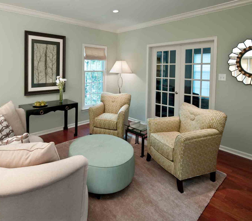 Bryn Mawr Living Room - with Highland Court by Duralee