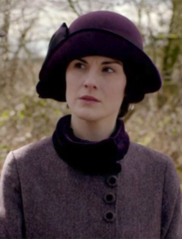 Lady Mary wearing Heathered Plum