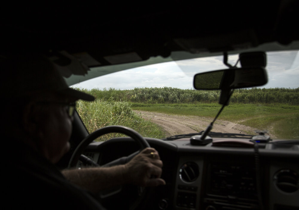 Frank Diehl drives around  Frank Diehl Farms  on Wednesday August 24, 2016 in Wimauma, Florida.  Diehl has been a farmer since he was 17 years old.