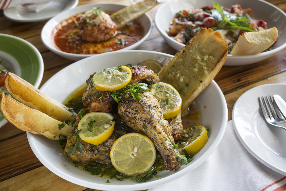 The Pollo Al Forno with Lemons, at  Oggi Italian  on Thursday August 10, 2016 in Tampa.