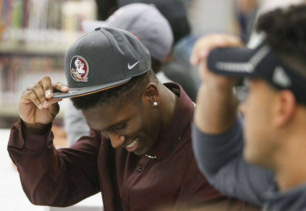 Linebacker Decalon Brooks chose Florida State University on National Signing Day on Wednesday February 1, 2017 at Gaither High School in Tampa.