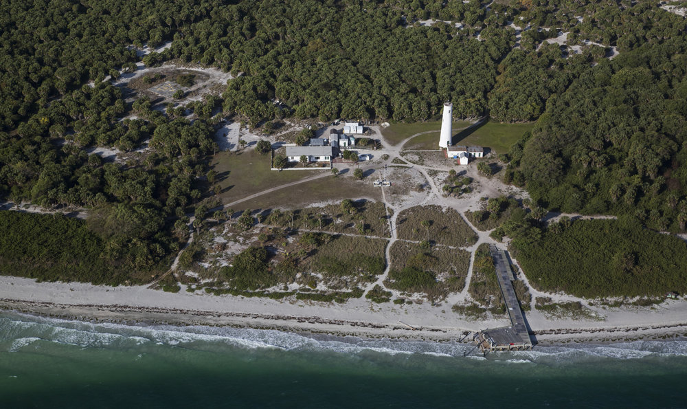 "Egmont Key, off the coast of Fort DeSoto in Tampa Bay, photographed on March 24, 2017.   Seminole Indians who died on the island during a U.S military internment camp in the mid-1800s were buried without markers. Using ground-penetrating radar, the Seminole Tribe of Florida found ""dense spots"" near the lighthouse. They will process the data gathered to determine whether those are burial areas."