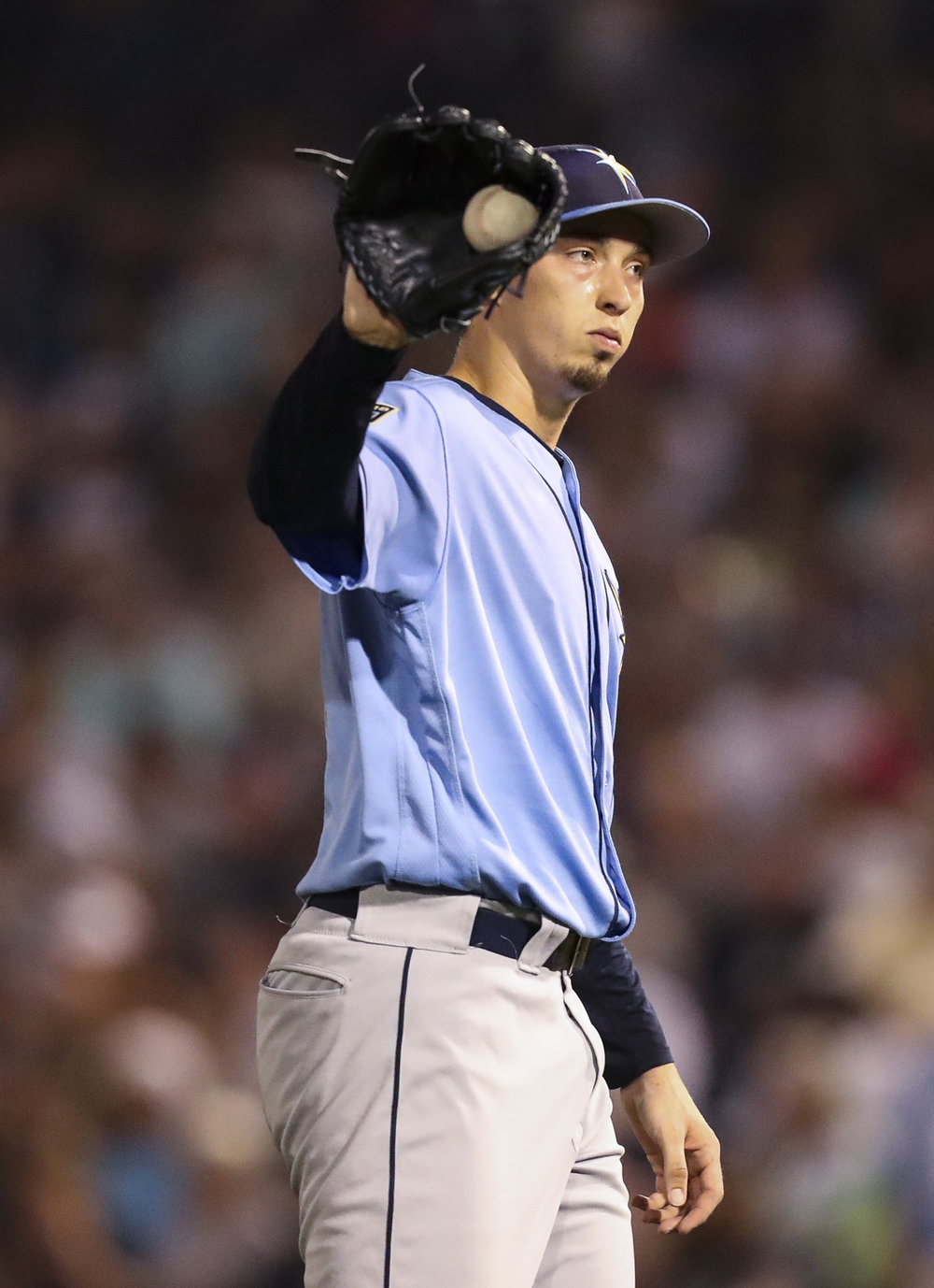 MONICA HERNDON   |   TimesBlake Snell (4), of the Tampa Bay Rays, pitches during the fifth inning of a spring training game against the Yankees on March 19, 2018, at Steinbrenner Field in Tampa, Fla.