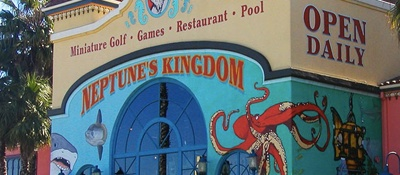 Park for free in the big lot across from the Boardwalk...        More info on Neptune's Kingdom...