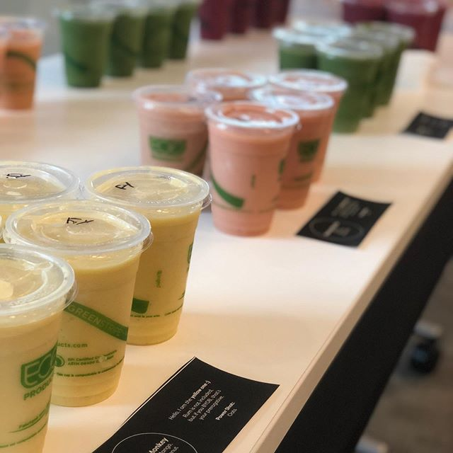 Thank you @exportdevcanada for having us power you up! 40 smoothies strong 💪 🤗  #catering #ottawa #delivery #alwaysapleasure #juicemonkey #dopeoffice