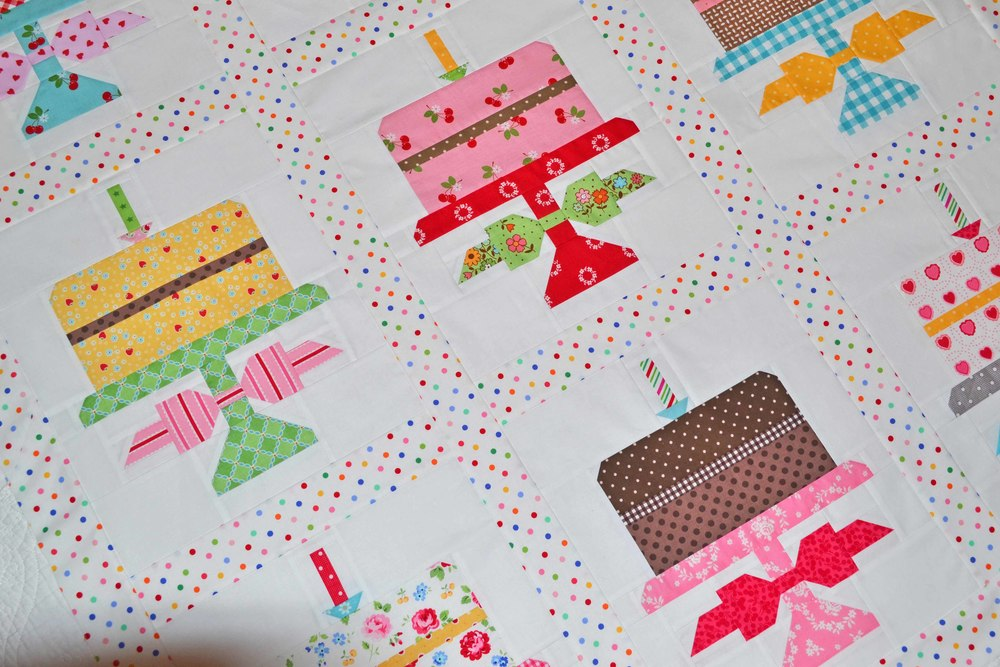 Quilty Fun birthday cake pattern by Lori Holt for Fat Quarter Shop