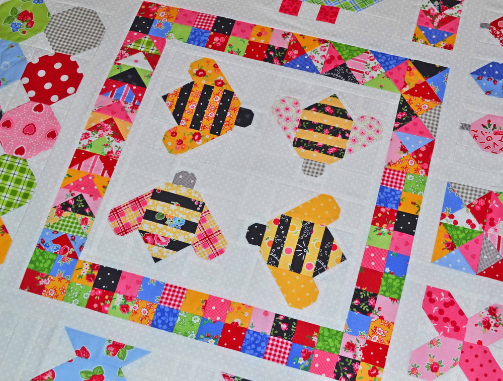 Quilty Fun sampler by Lori Holt