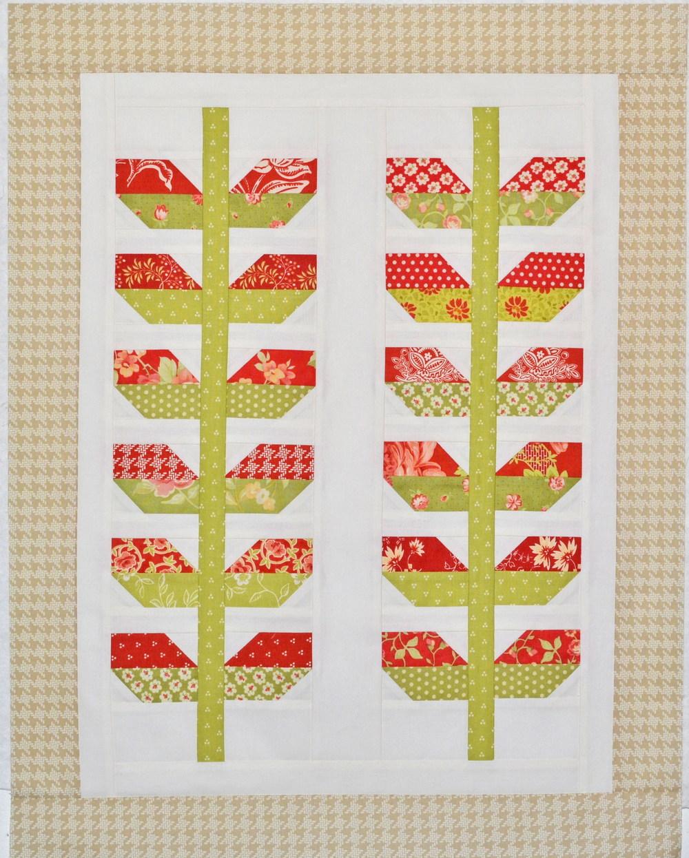 Stems Quilt Pattern Fig Tree : fig tree mini stems quilt grey dogwood studio