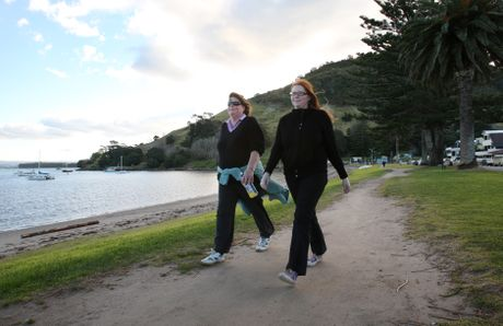 Janet and Erin Bennett take a stroll along Pilot Bay - Joel Ford
