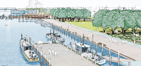A Priority One plan of how The Strand waterfront could look after development.