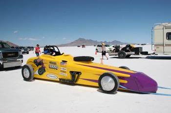 Tony's modified drag racer called Toenails