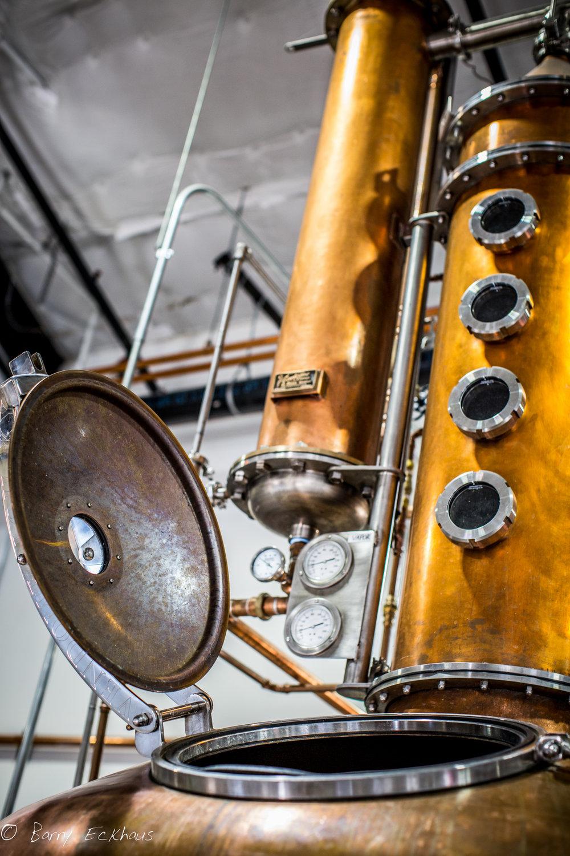 10th Mountain Distillery copper still