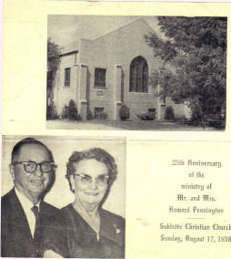 Howard Pennington's 25th Anniversary of ministry of Sublette Christian Church August 17, 1958.