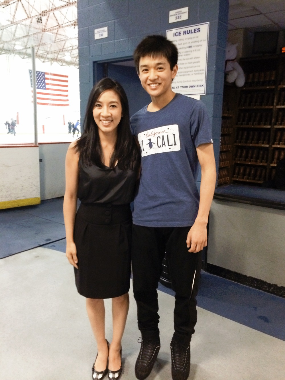 Even got a chance to get a pic with Michelle Kwan when she visited!