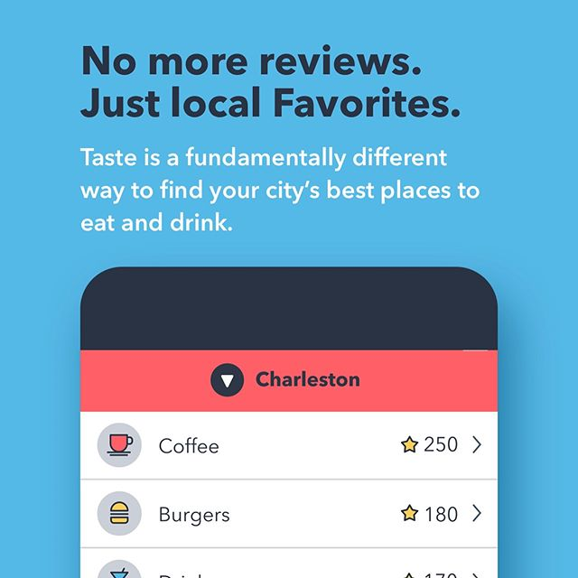Foodies everywhere, rejoice! Today is the day - the @tastefavorites app is here!!!! Taste fundamentally changes the way we're finding the best food & drink hotspots around the country, voted on by locals who know best. 🍕🍦🍷🍟🍔🍳 Download for free here to #findlocalfavorites no matter where you are, or what you're craving: http://apple.co/2un0SSH
