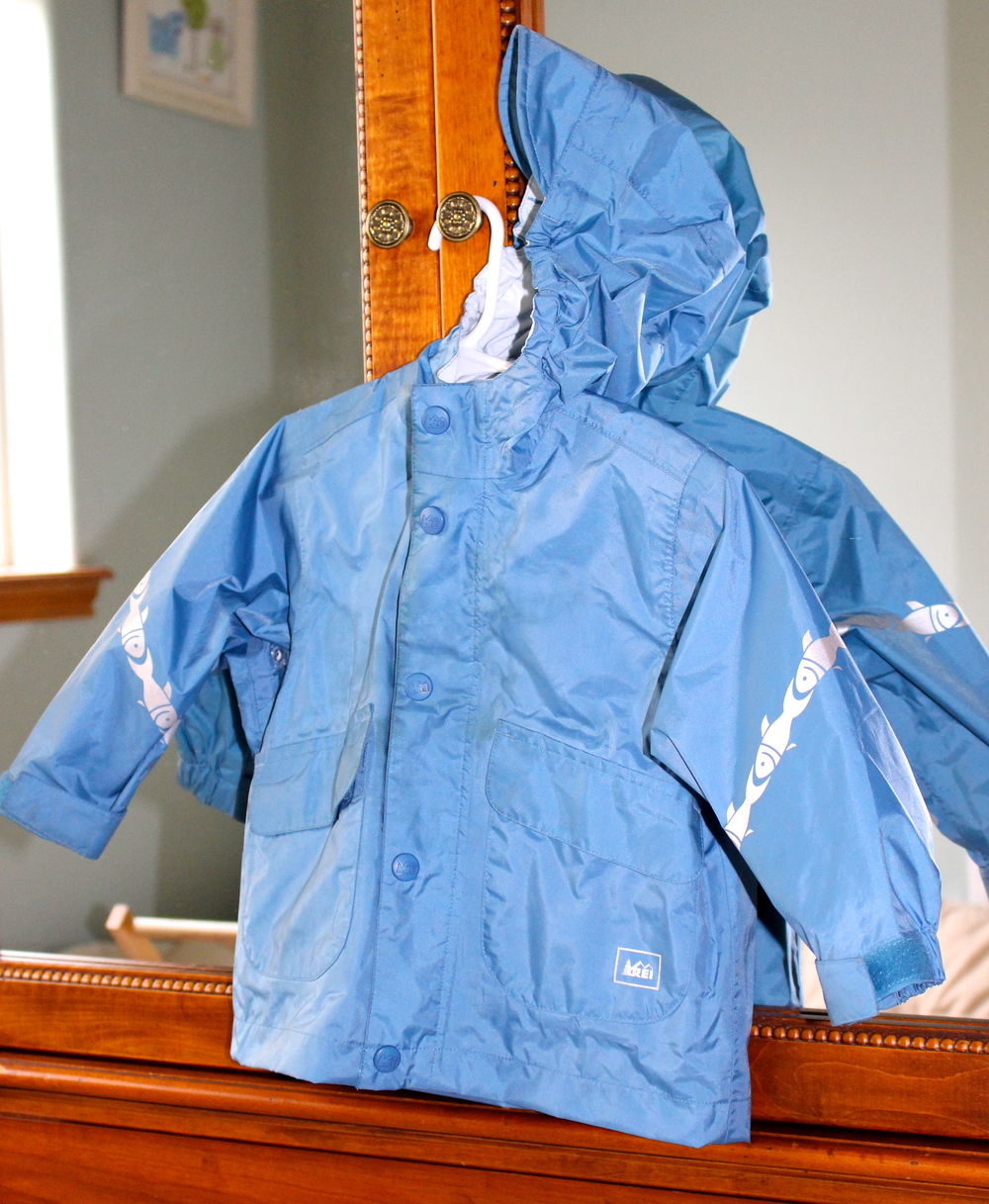 REI toddler raincoat from resale