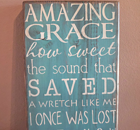 Amazing Grace wall plaque by  CiderHouseMill  on  Etsy