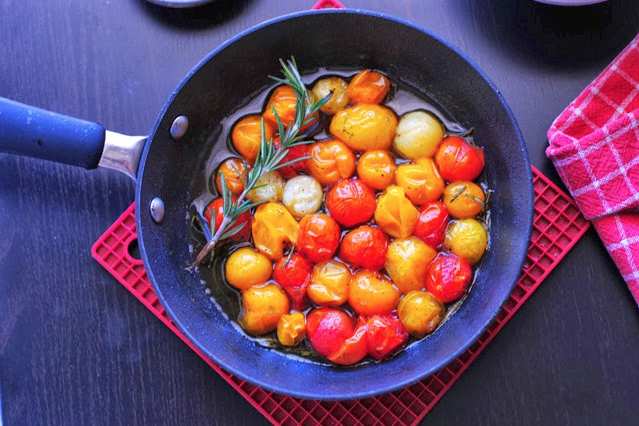 Rosemary cherry tomatoes from  French Foodie Baby blog