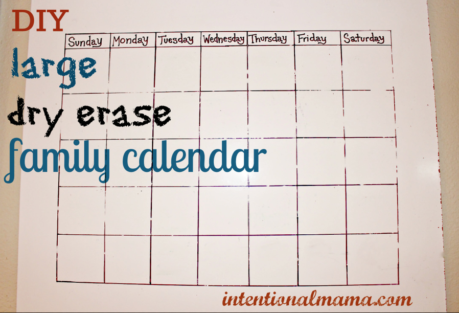 Whiteboard Calendar Diy : Diy dry erase family calendar great for classrooms too