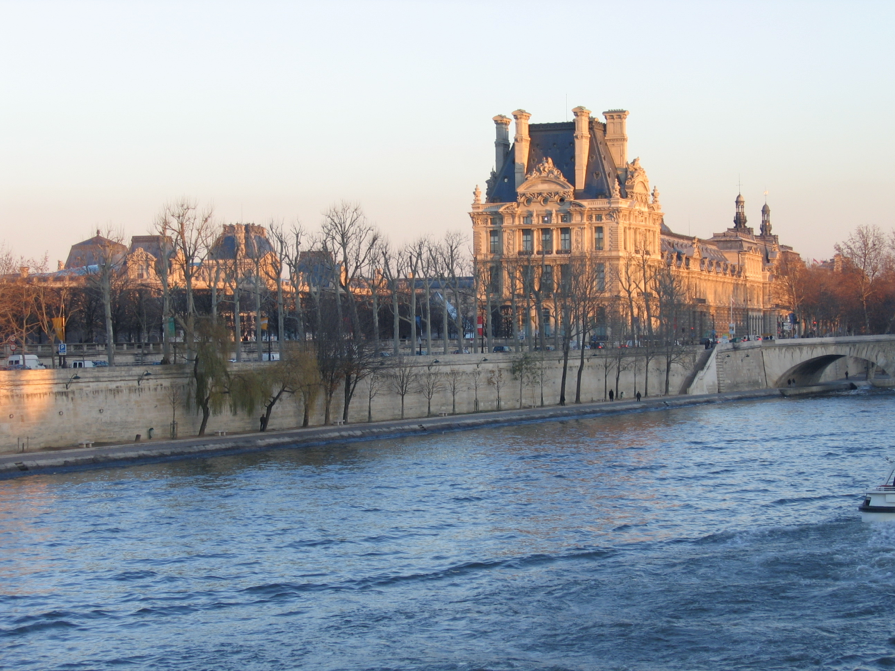 View of the Louvre from the Seine