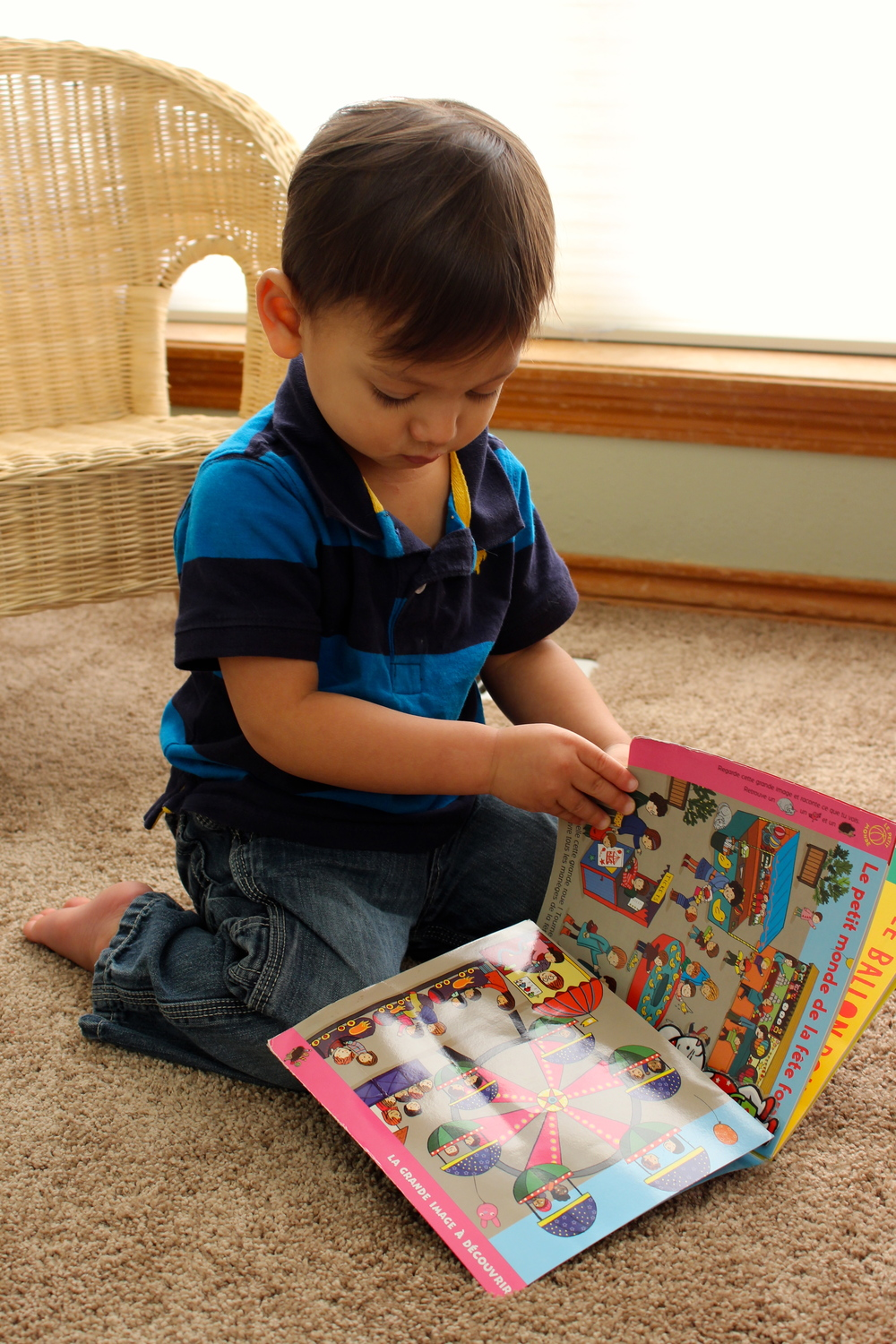 toddler reading Popi