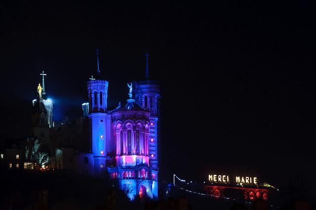 Basilique de Fourvière, Fête des Lumières 2009 by Dedié2Lyon via Flickr