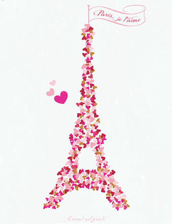 Paris Je t'aime  from  Eviva Art Prints