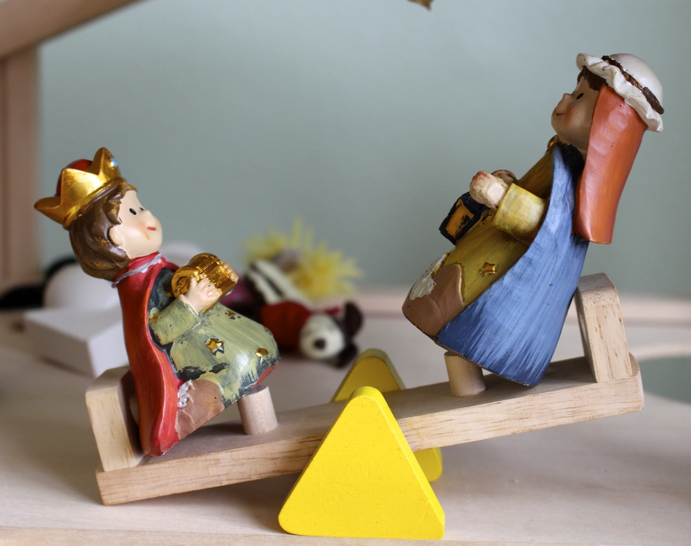 nativity figurines at play intentional mama