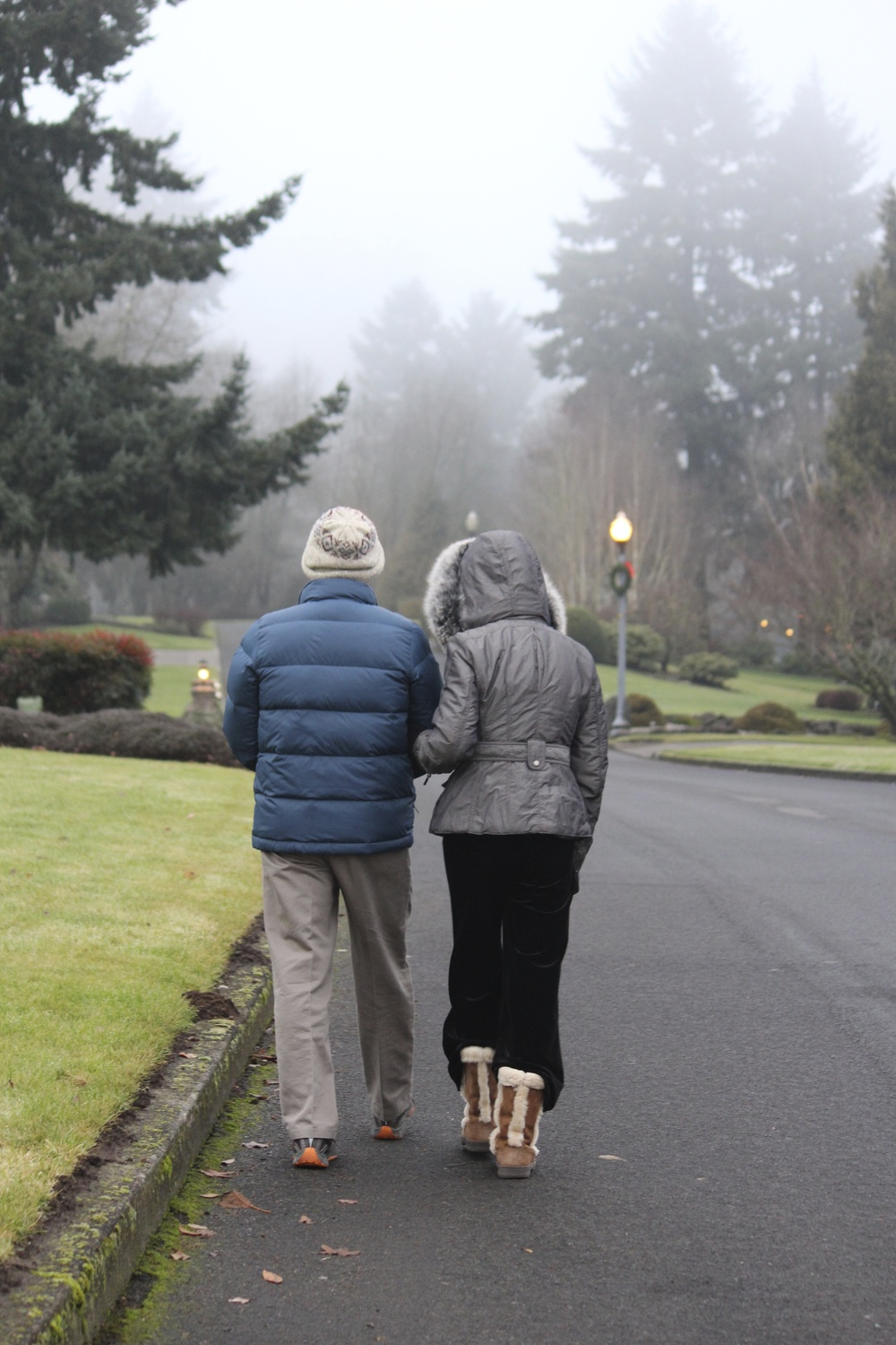 My parents on a winter walk