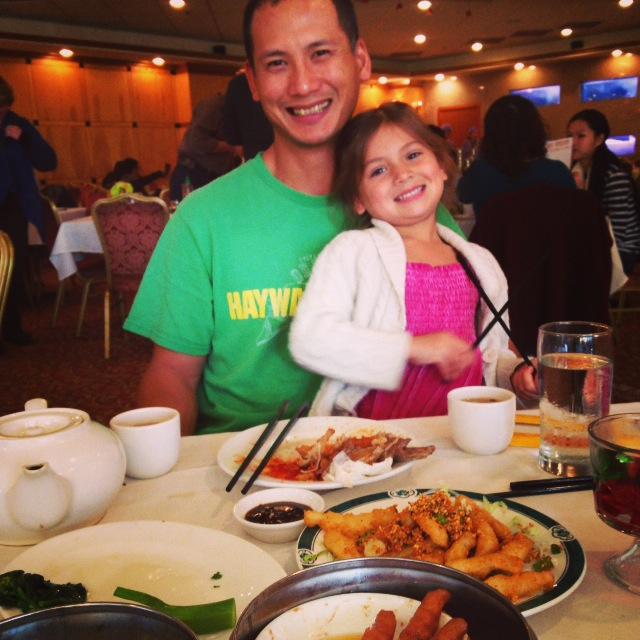 My husband and daughter enjoying Dim Sum. Find my Instagram stream  here .