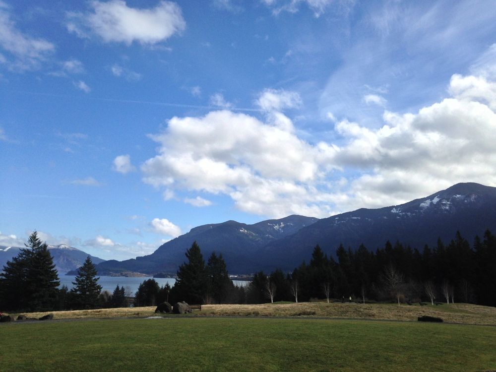 The view of the Columbia River Gorge at Skamania Lodge
