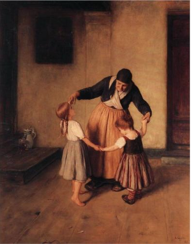 Grandma and Children by Nikolaos Gyzis, 1883