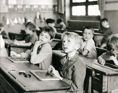 L'Information scolaire by Robert Doisneau, 1956