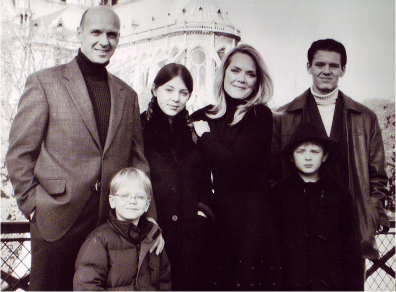 The Bradford family in Paris years ago