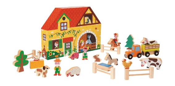 Our wooden Story Box Farm set by Janod