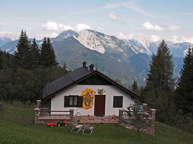 A fairly typical chalet; photo by  Paul Monserrat