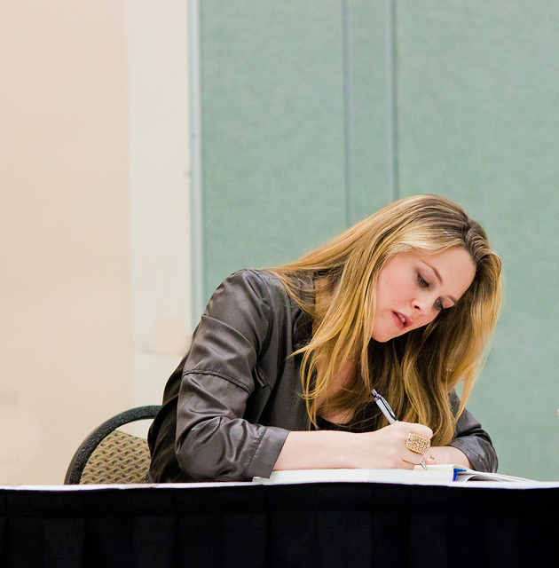 Silverstone at a book signing; photo by  ATrumbly