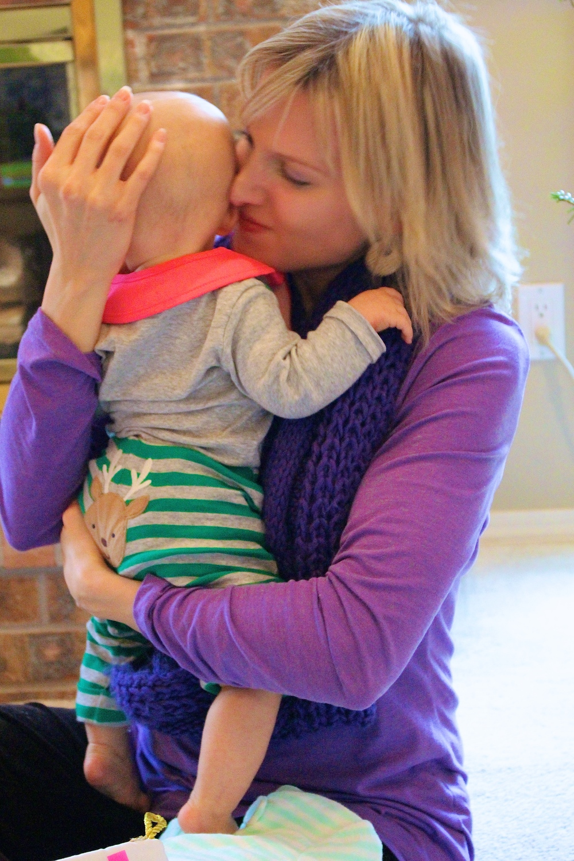 A mama-baby embrace