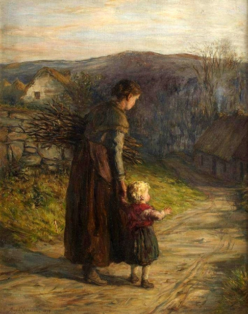 Homewards with Mother by Hugh Cameron, 1835-1918