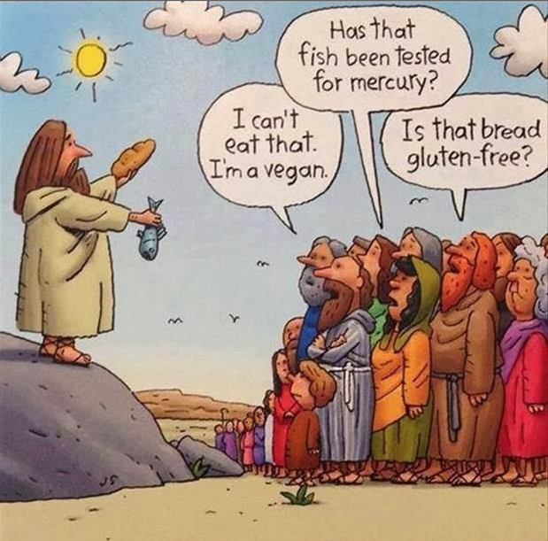 Jesus feeds the five thousand today