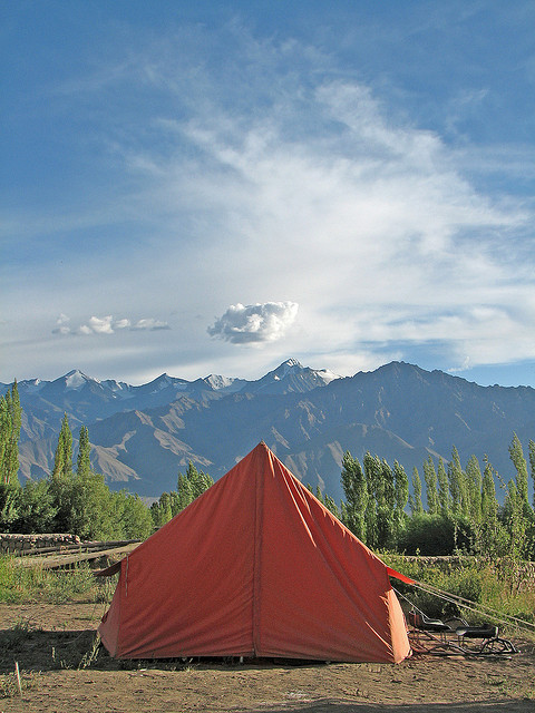 Camp at Leh Valley by  Karunakar Rayker