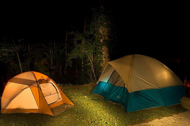 Camping at Red River Gorge by  Wayne