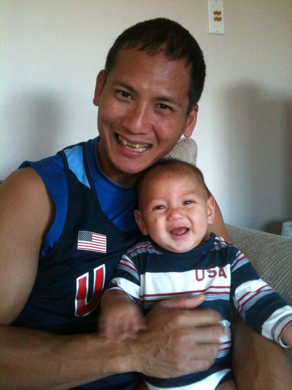 With our infant son in July 2011